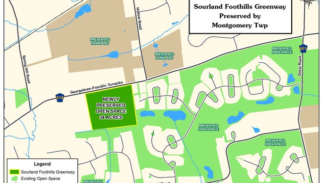 Montgomery is acquiring 34 acres of open space along Route 518.