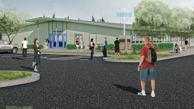 Erickson McGovern Architects created this rendering of the new North Mason Boys & Girls Club teen center on the North Mason High School campus. The former North Mason School District administration building will be renovated this fall to house the new teen center.