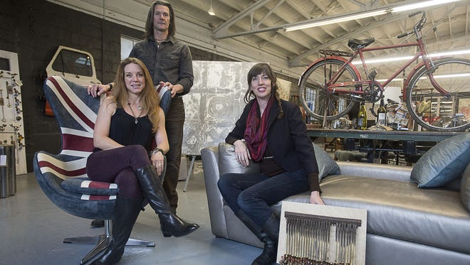 London District Studios, which houses the working space of artists Leslie Rowland, Wade Opplinger and Kehren Barbour, celebrates its grand opening on March 4.
