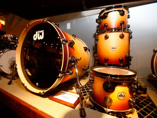 A DW Drums Collectors Series Custom 5pc Kit in Burnt Toast Fade with Black Nickel Hardware ($3858) at Russo Music in Asbury Park Friday, March 24, 2017.