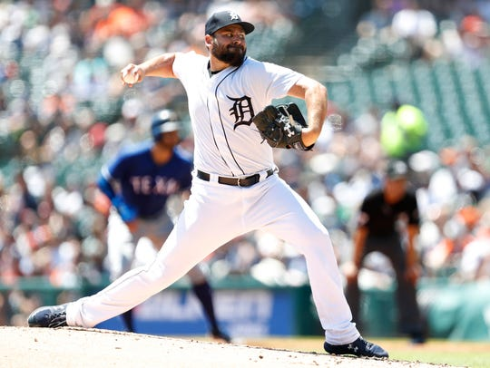 Detroit Tigers pitcher Michael Fulmer during the second