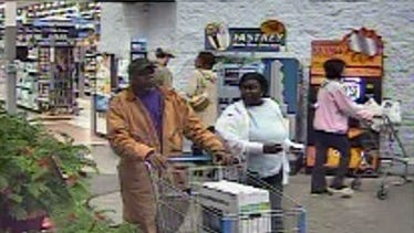 Two unknown suspects wanted for credit card fraud at U.S. 49 Wal-Mart.