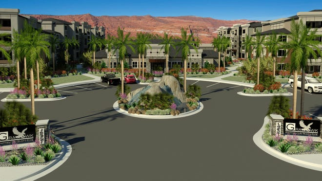 Grayhawk Apartments at River's Edge will consist of 244 units in 12 apartment buildings.