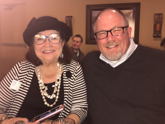 Abilene city councilwoman Donna Albus and city manager Robert Hanna attend a recent Rotary Club of Abilene luncheon.