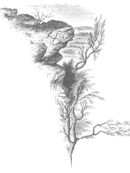 The 1851 illustration of the Washington Rock by Benson
