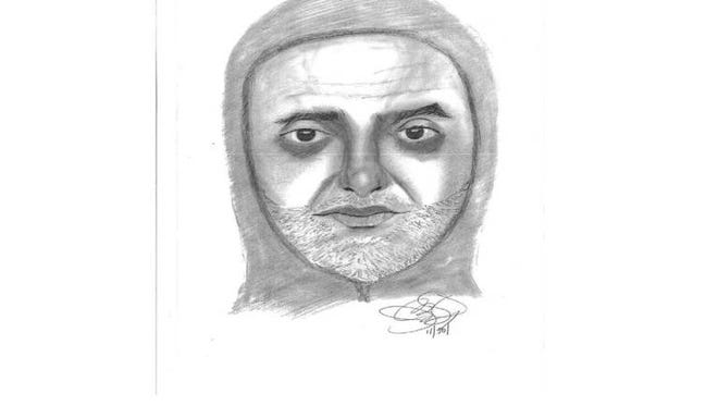 Police are looking for the man sketched above in connection to a home invasion and robbery.