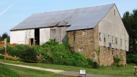 This was once Aaron Firestone's barn in Carroll Township near Dillsburg in northern York County. This barn was razed in the past five years.