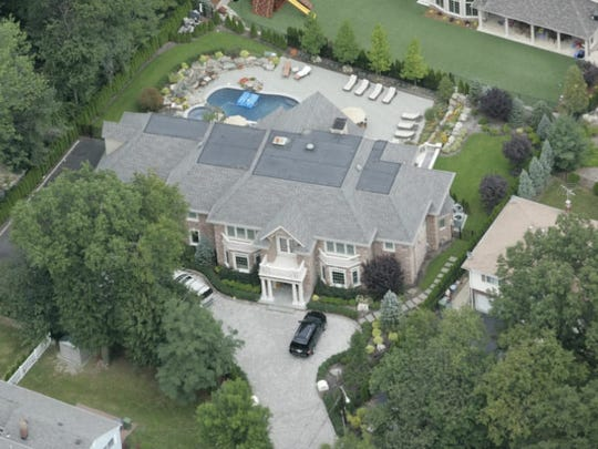 A view of the property in Paramus built by Michael Mordaga, former chief of detectives in the Bergen County Prosecutor's Office.