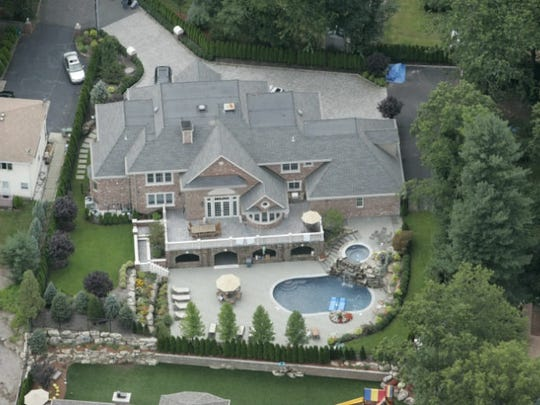 The property in Paramus built by Michael Mordaga, former chief of detectives in the Bergen County Prosecutor's Office.