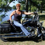 Biker gals take to the open road and now account for 49 percent of all new motorcycle sales.