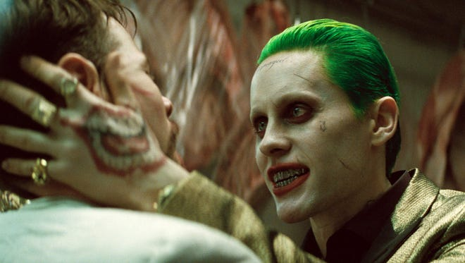 "Jared Leto in a scene from ""Suicide Squad."""