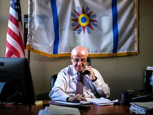 Joseph T. Kassab, 64, of Farmington Hills, is photographed in his office on Thursday, November 10, 2016, in West Bloomfield. Kassab is the Founder and President of the Iraqi Christian Advocacy and Empowerment Institute. During the elections, Kassab was an active member of the Trump Coalition of the Middle Eastern community in Michigan.