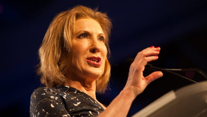 Carly Fiorina speaks during the Western Conservative Summit on June 27, 2015, in Denver.