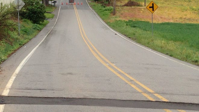 A sinking trench has kept South Lake Road closed in Jackson Township