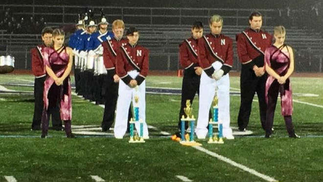 The Nutley High School Raiders Marching Band won first place in Division 4, Best Color Guard and Best Music, during the 43rd Annual Randolph 'Under The Stars' competition on Oct. 1, 2016.