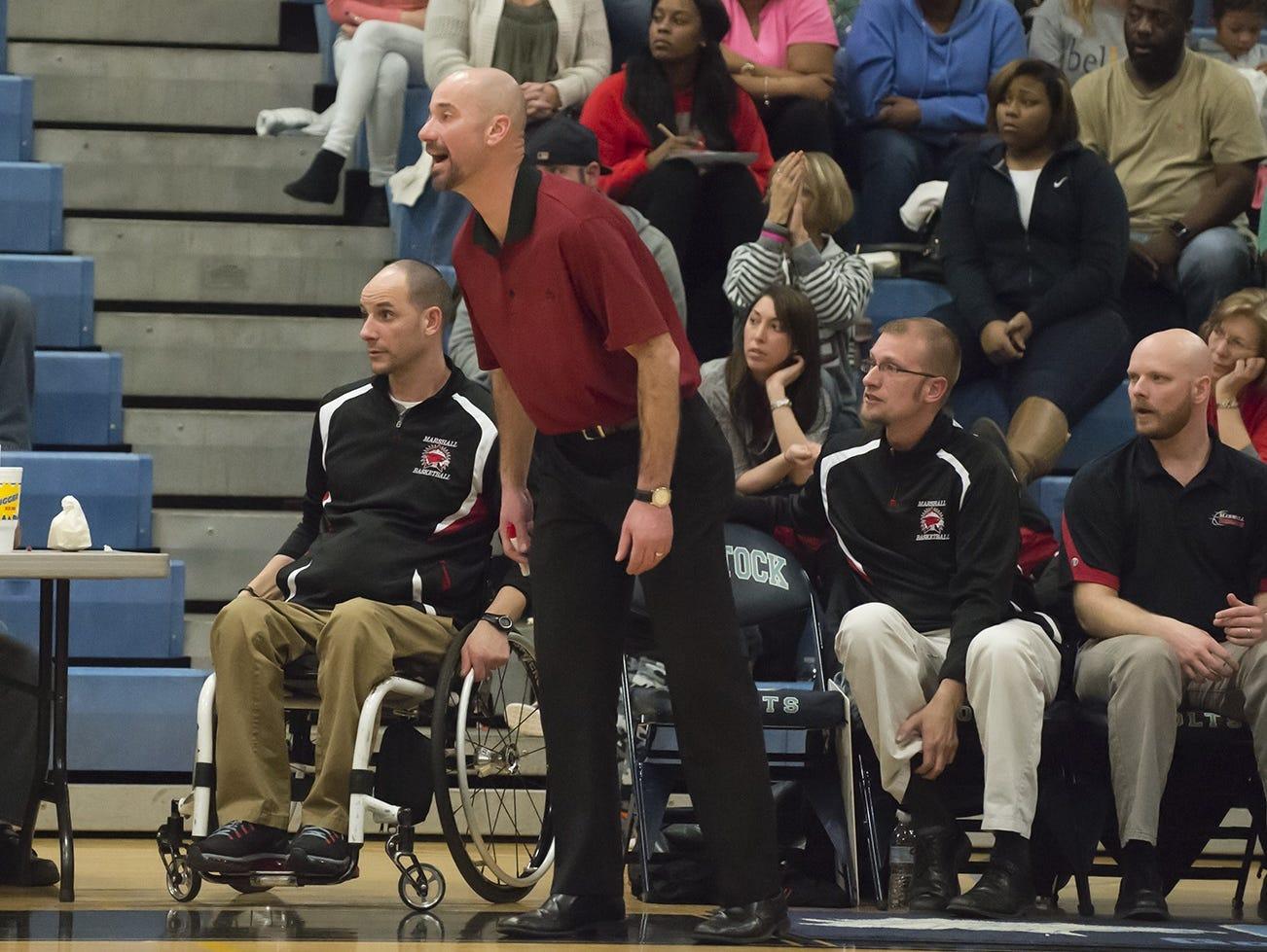 Marshall coach Nicholas Dent.