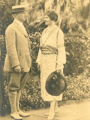 Alfred I. duPont and his wife, Jessie Ball duPont, are shown in Miami in 1922. They had a residence in Jacksonville, Florida.
