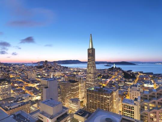 The Loews Regency San Francisco in the skyline.