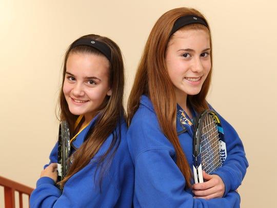 Laina Campos and Vanessa Ciano, freshmen at The Ursuline
