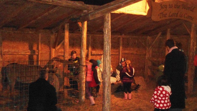 """The New Hope Baptist Church sponsored """"Live Nativity"""" is a true spirit of Christmas tradition at Christmas in Loveland."""