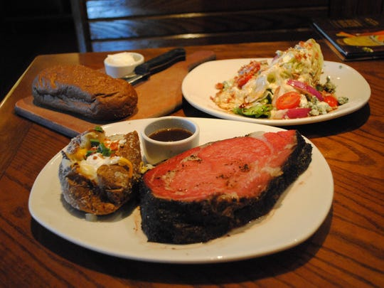 The prime rib alone in the Herb Roasted Prime Rib Dinner at Outback Steakhouse has 1,400 calories.