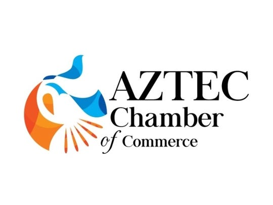 """The new Aztec Chamber of Commerce logo was released in late September at the chamber's """"Meet me at the Diner"""" annual dinner event."""