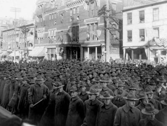 Camp Sherman soldiers are seen here on North Paint