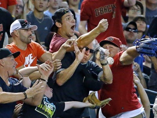Solid crowds showed up to watch the Diamondbacks face
