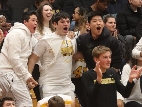 The Cresskill crowd celebrates their team's second