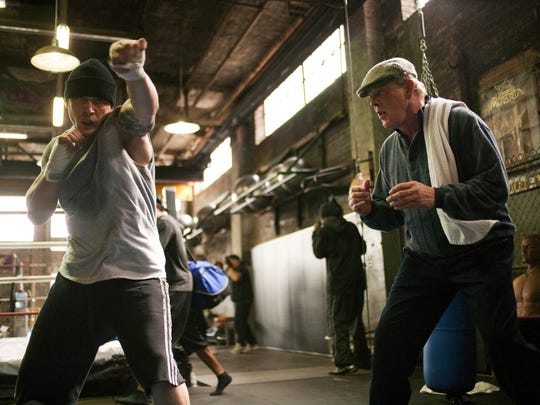 """Tom Hardy (left) and Nick Nolte in a scene from """"Warrior."""""""