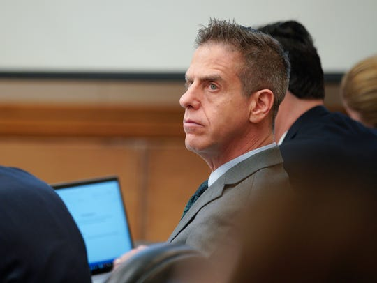 Adam Shacknai sits in court during the civil trial