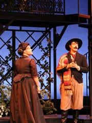 Lauren Feider and James Schmid perform in FSU Opera's