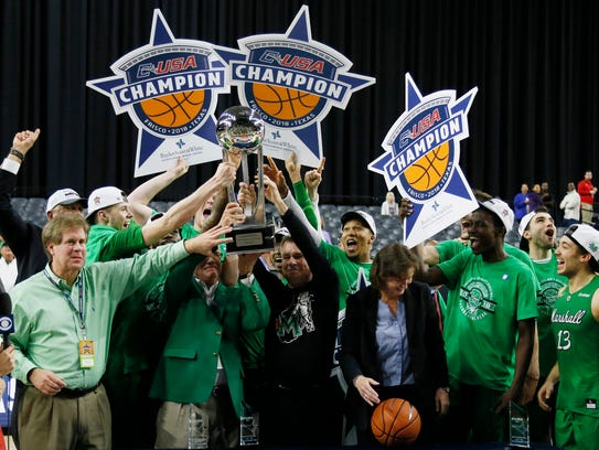 Coach Dan D'Antoni and the Marshall Thundering Herd