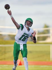 Pierre quarterback Peyton Zabel