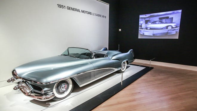 The 1951 General Motors Le Sabre XP-8, is on loan from the GM Heritage Center.