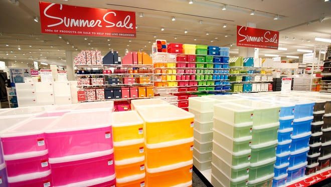 Colorful containers for back to school at The Container Store in Westchester's Ridge Hill, photographed Aug. 11, 2015 in Yonkers. The store will celebrate it's grand opening on Saturday, Aug. 15, 2015.