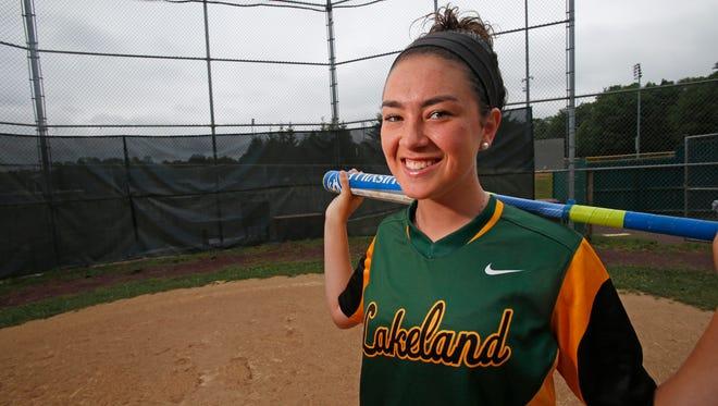 Lakeland High School softball pitcher Colleen Walsh on June 28, 2016.