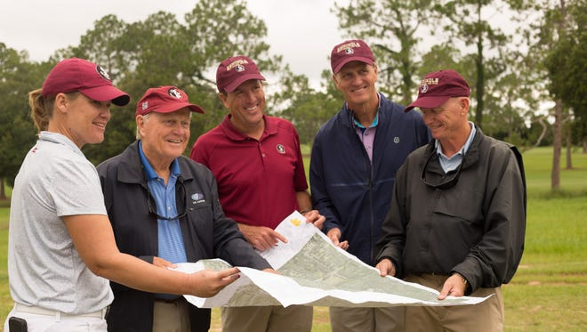 On Thursday afternoon, Jack Nicklaus and Jack Nicklaus II met with media at the Don Veller Seminole Golf Course to share information on the current reworking and redesign of the Jack Nicklaus Legacy Golf Course.