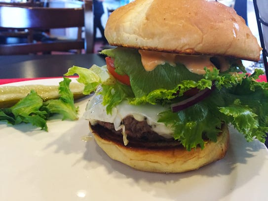 The Barn Burger comes with a beef and bacon patty,