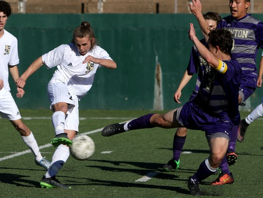 Rider soccer vs. Denton
