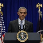 Obama praises 'outstanding police work' that led to bombing suspect's arrest