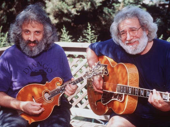 Late Grateful Dead leader Jerry Garcia (right) and