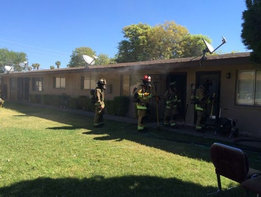 Scottsdale apartment fire displaces three
