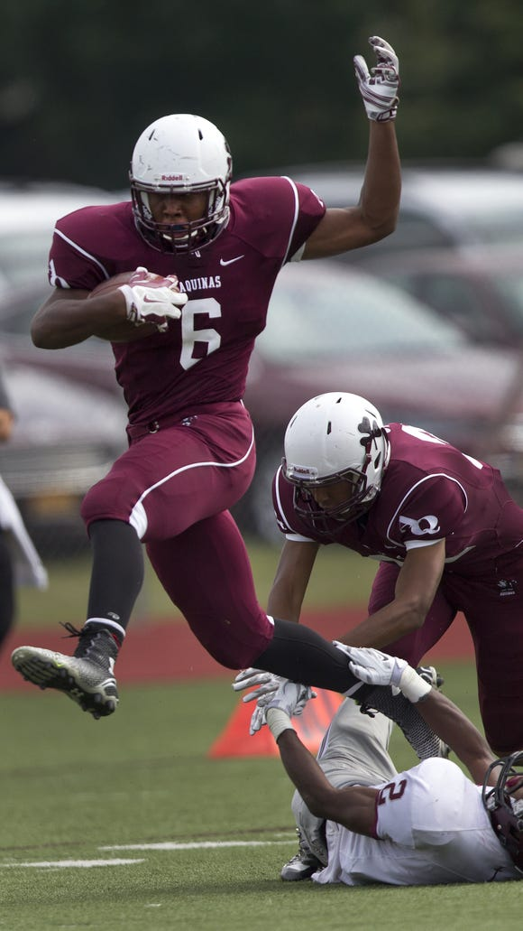 Aquinas rising senior Taylor Riggins accepted an offer