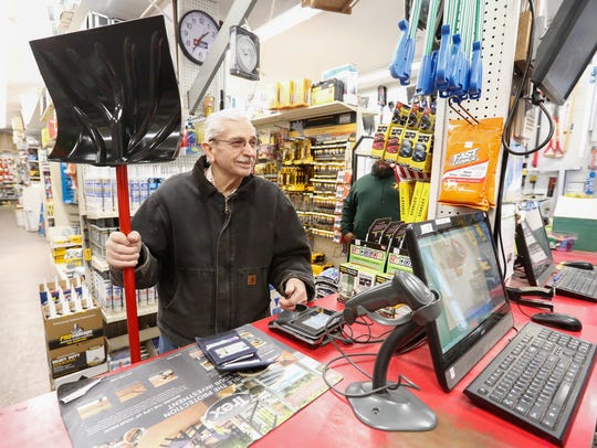 John Frascello of Congers buys a new snow shovel at