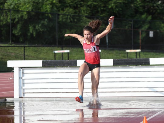 North Rockland's Haleigh Morales competes in the steeplechase