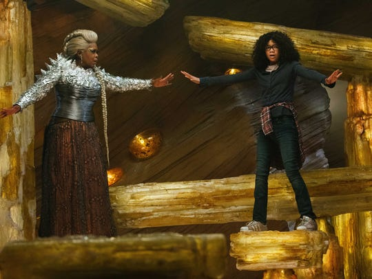 "Mrs. Which (Oprah Winfrey) guides Meg (Storm Reid) on her journey to rescue her father in ""A Wrinkle in Time."" Winfrey spent part of her childhood in Milwaukee."