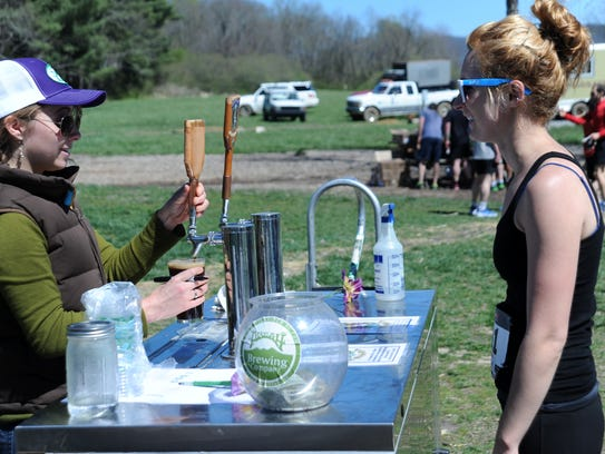 Runners who finish the Black Mountain Greenway Challenge receive a free beer from Pisgah Brewing Co. at the conclusion of the race.