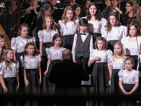 "The Children's Chorus sings ""In the Bleak Midwinter"""