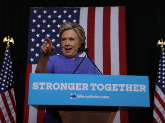Hillary Clinton Holds Campaign Rally In Florida